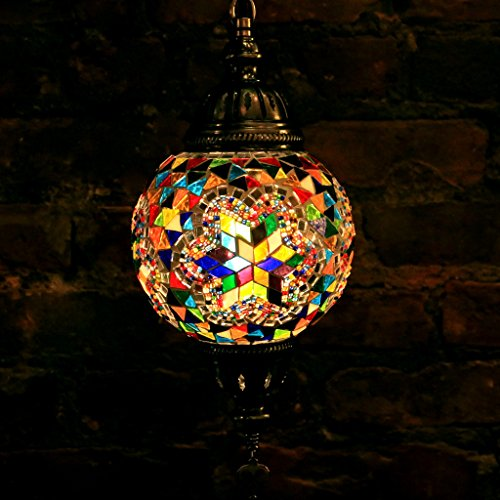 Glass Mosaic Bowl Pendant - 8