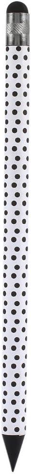 Auntwhale Pluma capacitiva de la Tableta de la Pluma Tableta dise/ñada l/ápiz de la Pluma Redonda Universal del pl/ástico de Carbono para el iPhone Punto Negro Blanco