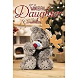 Me To You Tatty Teddy 3D Holographic Christmas Card - Daughter