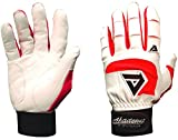 Akadema White/Red Professional Batting Gloves XL