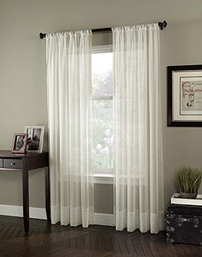 Sheer Tailored Curtain Panel (Curtainworks Soho Voile Sheer Curtain Panel, 59