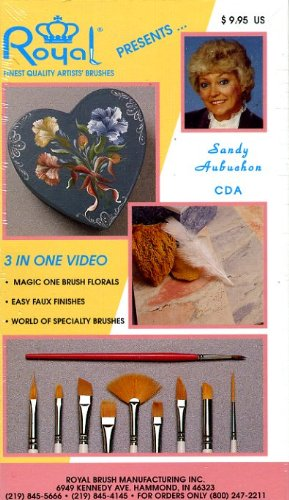 Sandy Aubuchon, Three In One Video, Magic One Brush Florals, Easy Faux Finishes, World of Specialty - Floral Finish