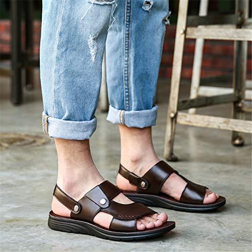 EU 42 pantofole Uomo Marrone Marrone In 3 Wagsiyi Colore Sandali Pelle Scarpe Da spiaggia da Spiaggia Marrone Da 2 Dimensione U8wSwZx