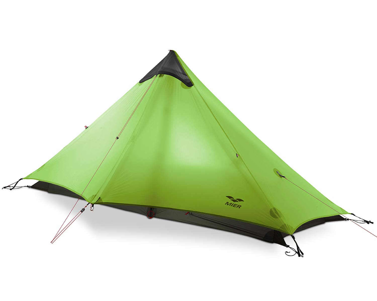 MIER Ultralight Tent 3-Season Backpacking Tent for 1-Person or 2-Person Camping, Trekking, Kayaking, Climbing, Hiking (Trekking Pole is NOT Included), Green, 1-Person