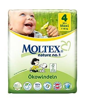 Moltex Nature No. 1 Ökowindeln, Größe 4 (Maxi), 7-18 kg, (1 x 30 Windeln) Größe 4 (Maxi) MOLTEX nature no.1 154553P