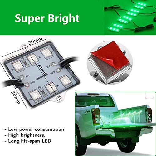8pc 48LED Waterproof Truck Bed Light System Kit 6000K For Chevy Dodge GMC Pickup White/Red/Blue/Green