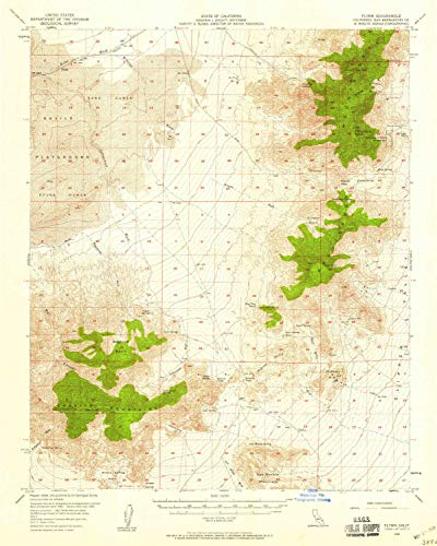 (YellowMaps Flynn CA topo map, 1:62500 Scale, 15 X 15 Minute, Historical, 1956, Updated 1958, 20.8 x 16.6 in - Tyvek)