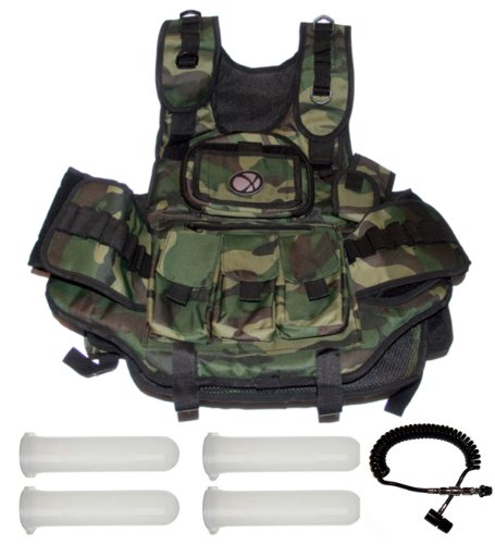 GXG Deluxe Camo Vest + Remote + 4 - 140rd Tubes by GxG