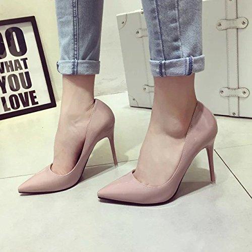 Femmes Stiletto Talon Haut Closed Toe Court Shoes Chaussures De Soirée Clubbing Chaussures De Mariage Pompes Sexy Chaussures à Talons Hauts Pink CqN1FiT