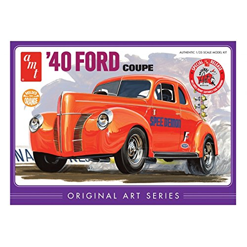 AMT AMT850/12 1/25 '40 Ford Coupe Original Art Series Orng 1940 Ford Custom Coupe