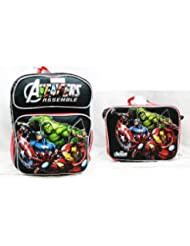 Marvel - Avengers Assemble - Large Backpack - Lunch Bag - Set