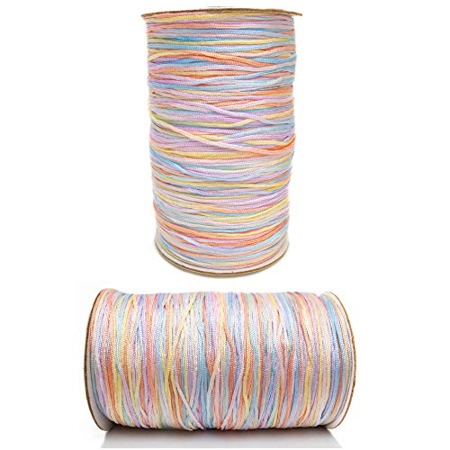 Tie-Dye Woven Soft Nylon Cord for Jewelry Making,