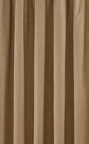 Park Designs Shades Of Brown Lined Window Treatment Tier, 72