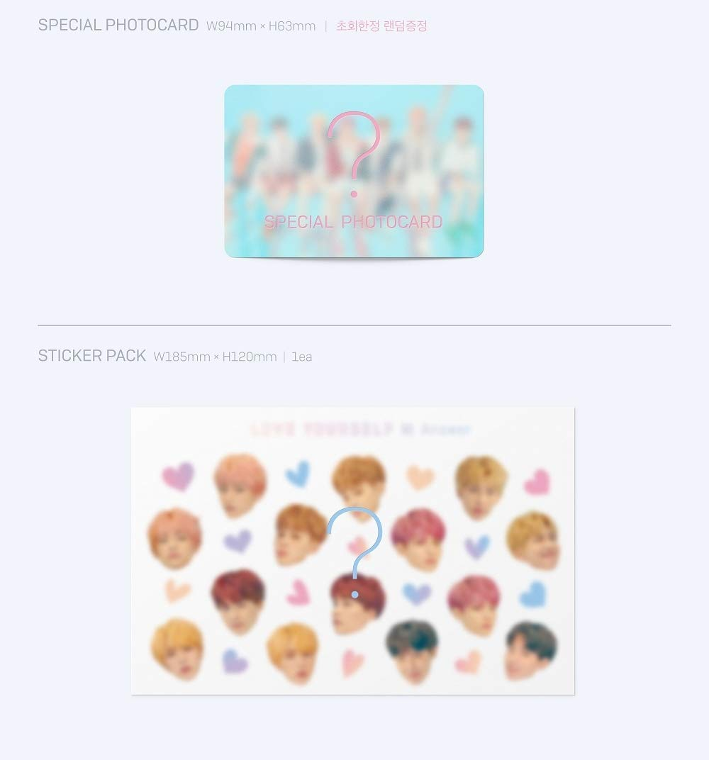 BTS - [Love Yourself 結 'Answer'] 4th Album F VER 2CD+Poster+116p PhotoBook+20p Mini Book+1p PhotoCard+1p Sticker+Pre-Order+Extra PhotoCard Set K-POP Sealed by BTS (Image #7)