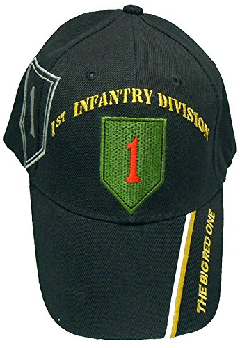 Officially Licensed US Army Infantry Division Black Embroidered Baseball Cap - Multiple Divisions Available! (1st Infantry)