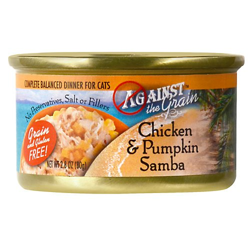 Against The Grain Chicken Pumpkin Samba Canned Cat Food 24/2