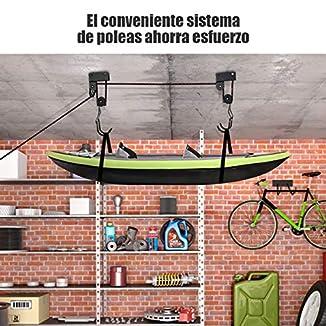 Sistema para colgar kayak del techo 2