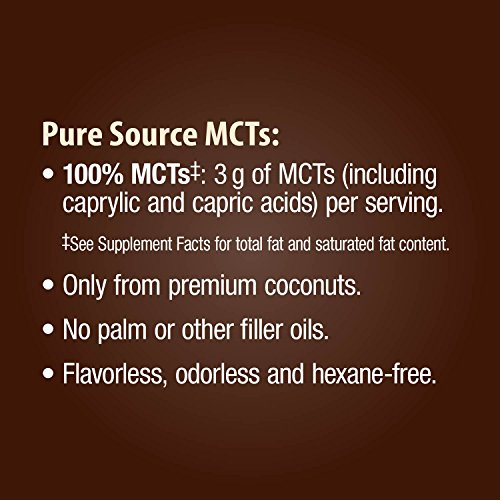 Nature's MCT Softgels 1000mg of MCTs softgel, or Oils, Hexane-free, Flavorless, Odorless softgels