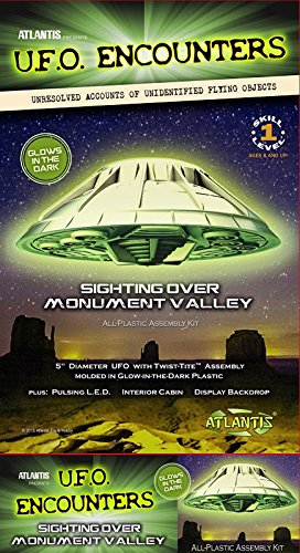 Monument Valley UFO Glow-In-The-Dark 5-Inch Model Kit with Light (Plastic Model Kit Ufo)