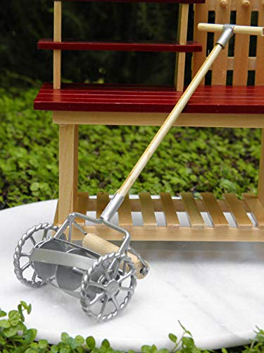 - Adjore Miniature Dollhouse Fairy Garden Accessories ~ Old-Fashioned Metal Lawnmower ~ Best Outdoor Accessory