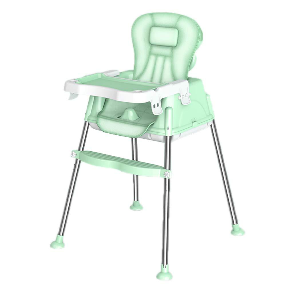 3-in-1ベビーハイチェア、多機能高さ調節可能な子供用ダイニングチェア送り椅子パズルチェア取り外し可能トレイシート付きベルトラウンジチェア6-48ヶ月、dorキッチン、レストラン(3色利用可能) (色 : B)  B B07PSNJJK3