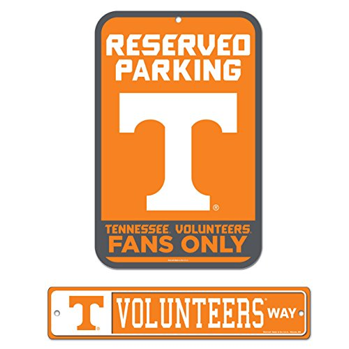 WinCraft Bundle - 2 Items: University of Tennessee Plastic Street Sign and Reserved Parking Sign