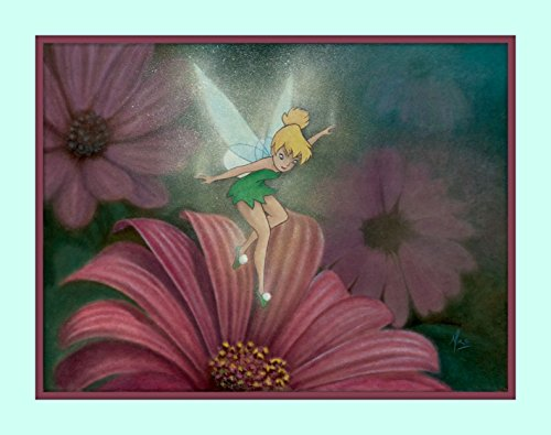 Treasure Chest Shoppe Tinkerbell from Peter Pan Walt Disney Movie Play 11x14 Double Matted Fine Art Print 8x10 Premium Giclee Print Walt Disney Collection Tinker - Pictures Fairies Tinkerbell