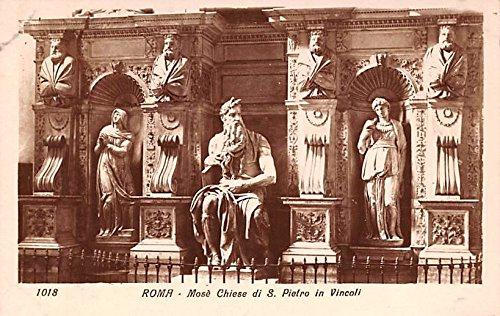(Moses Chiese di S Pietro in Vincoli Roma Italy Postcard)