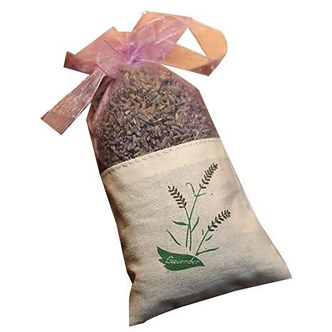 GGOOD Lavanda Natural Flores secas Bolsas de Color púrpura ...