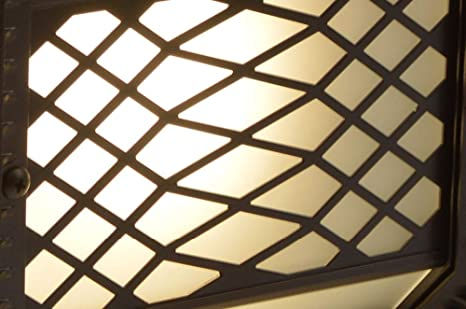 HviLit Luz solar exterior tallada antigua IP43 Lámpara de columna impermeable a prueba de lluvia Linterna de vidrio Pilar retro chino Linterna de poste Parque comunitario de aluminio Puerta Valla Vall: Amazon.es: