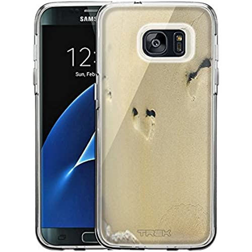Samsung Galaxy S7 Edge Case, Snap On Cover by Trek Foot Prints in the Sand One Piece Trans Case Sales