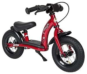 BIKESTAR® Premium 25.4cm (10 pulgadas) Bicicleta sin pedales para pequeños aventureros a partir de 2 años ★ Edición Clásica ★ Rojo