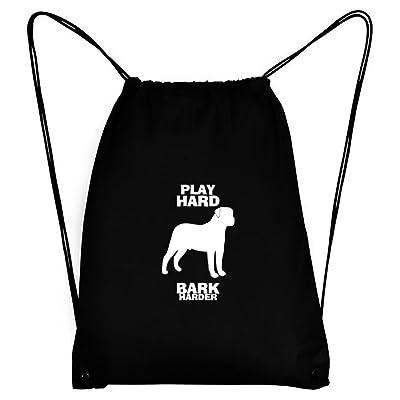 Teeburon PLAY HARD Bullmastiff BARK HARDER Sport Bag