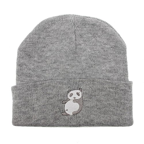 a67593aa18b Amazon.com  Fashion New Hot Candy Color Cartoon Panda Pattern Knitted Cap  Hat Men and Women Wool Hat  Clothing