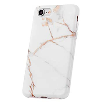 QULT Carcasa para Móvil Compatible con iPhone 6 Plus iPhone 6S Plus Funda marmol Blanco Silicona Flexible Bumper Teléfono Caso para iPhone 6/6S Plus ...