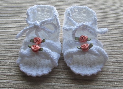 Knitting Pattern Baby Girl Sandals With Cables 0 3 And 3 6 Months