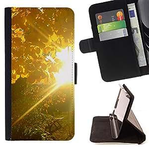 Jordan Colourful Shop - Sunset Beautiful Nature 83 For Apple Iphone 4 / 4S - < Leather Case Absorci????n cubierta de la caja de alto impacto > -