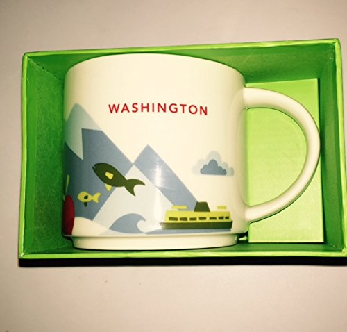 Starbucks You Are Here Collection Washington State Coffee Mug 2015 Brand New Release