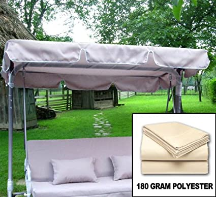 Outdoor Swing Canopy Replacement Porch Top Cover Seat Patio  (77u0026quot;x43u0026quot;) Beige