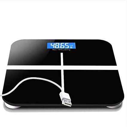 Básculas electrónicas USB, básculas de peso recargables, Básculas de prueba de salud para adultos