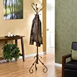 Decorative Coat Racks -Logan Hall Tree; Antique Style And Metal Bronze Color