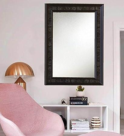 Buy Zahab Black Fibre Frame Bathroom Mirror/Decorative Mirror (Size ...