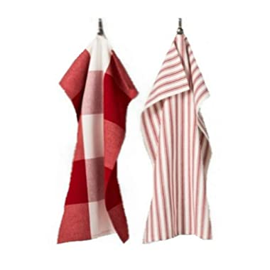 Gingham Kitchen Towel Set of 2 - Red/White - Hearth And Hand with Magnolia By Chip And Joanna Gaines - Fixer Upper - Magnolia Kitchen - Magnolia Market