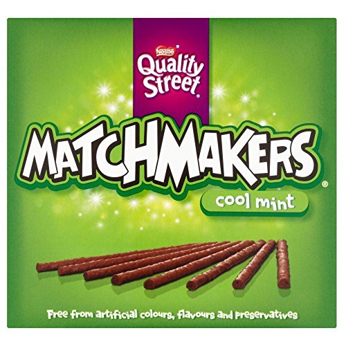 Dark Chocolate Orange Sticks - Nestle Matchmaker Cool Mint - 130g - Pack of 2 (130g x 2 Boxes)