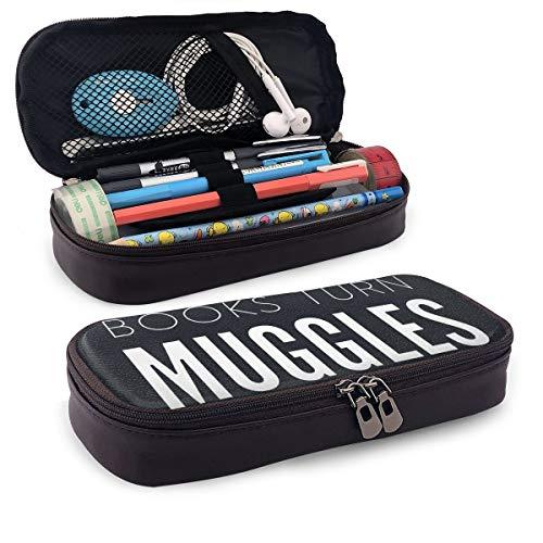 Ailigrfel Leather Zipper Pen Pencil Pouch Case Holder -