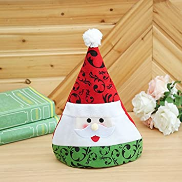 201 childrens christmas hat cartoon christmas gifts childrens performance props rags non woven mini childrens