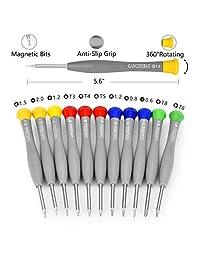 21pcs Conjunto de Destornillador Magnético de Precisión Kit de herramientas de reparación de teléfonos iPhone, ordenadores PC, tabletas Pads iPad Pro, reloj, y más pequeños electrodomésticos dispositivos electrónicos Pry Herramienta de bricolaje abierto K