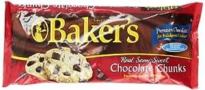 Baker's Semi-Sweet Chocolate Chunks, 12-Ounce Bags (Pack of 6)