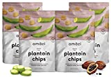 Amazi Dried & Roasted Plantain Chips – Cocoa Flavor – Organically Grown, Fair Trade, Gluten-Free, Certified Vegan Chips – Paleo Friendly Healthy Snacks – Uses Heart-Healthy Fats – 2 Pack