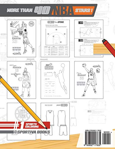 NBA All Stars 2018-2019: The Ultimate Basketball Coloring and Activity Book for Adults and Kids (All Star Sports Coloring) (Volume 5) 2